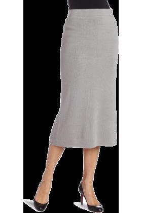AK Anne Klein Skirts -  AK Anne Klein Women's Long Knit Skirt Silver