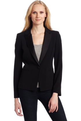 AK Anne Klein Jacket - coats -  AK Anne Klein Women's Tuxedo Blazer Black