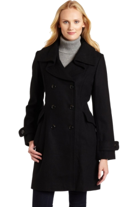 AK Anne Klein Jacket - coats -  Ak Anne Klein Women's Double-breasted Walker Black