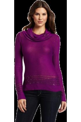 AK Anne Klein Pullovers -  Ak Anne Klein Women's Petite Longsleeve Cowl Neck Pullover Sweater Raisin