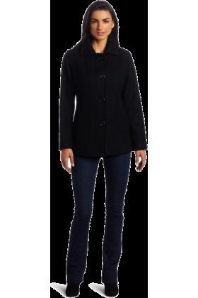 AK Anne Klein Jacket - coats -  Ak Anne Klein Women's Single-Breasted Wool Coat Black