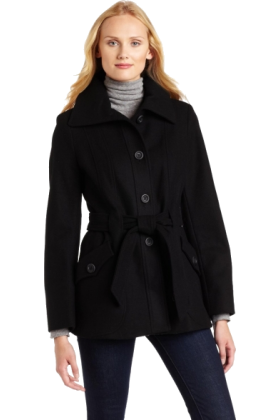 AK Anne Klein Jacket - coats -  Ak Anne Klein Women's Wool Wrap Coat Black