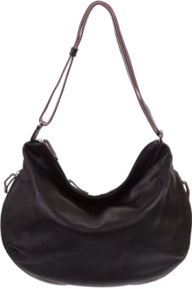 Bruno Rossi Bag -  BRUNO ROSSI Italian Made Black Calf Leather Hobo Bag
