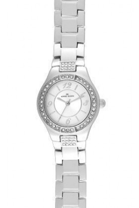 AK Anne Klein Watches -  Anne Klein Silvertone Round watch