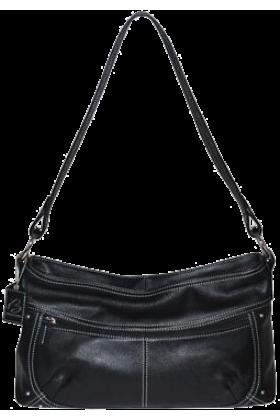 Buxton Bag -  B-Collective Handbags by Buxton 10HB047.BK Shoulder Bag- Black