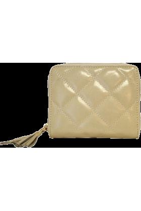 Buxton Wallets -  Bone Quilted Buxton Zip Around Slim Cardex Wallet