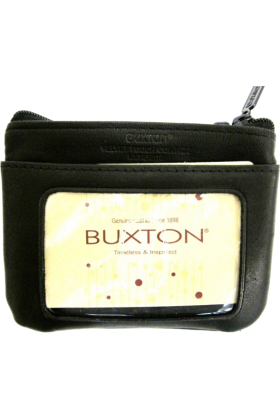 Buxton Brieftaschen -  Buxton Black Id Coin Card Case