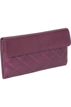 Buxton Wallets -  Buxton Buffalo Quilt Slim Wallet Gypsy Rose