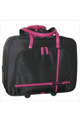 Buxton Bag -  Buxton Business Roller Tote Black/Rosewood