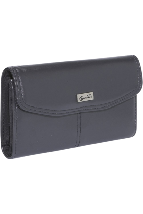 Buxton Clutch bags -  Buxton Muted Metallics Qal-Q-Clutch Black