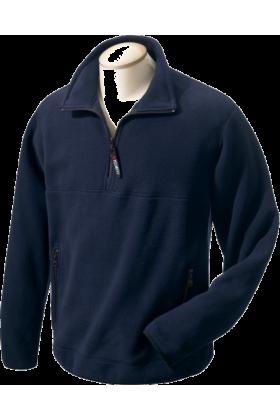Chestnut Hill Pullovers -  Chestnut Hill Men's Polartec Colorblock Quarter Zip Pullover. CH970 True Navy/True Navy