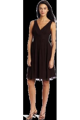 Donna Morgan Dresses -  Donna Morgan Women's Sleeveless Chiffon Dress Demitasse