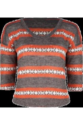 Full Tilt Pullovers -  FULL TILT Fairisle Womens Sweater Multi