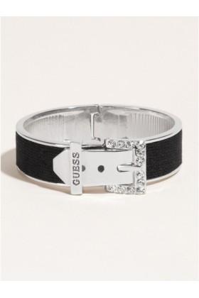 GUESS Bracelets -  GUESS Rhinestone Buckle Bracelet, BLACK