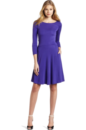 Halston Heritage Dresses -  HALSTON HERITAGE Women's Bow Tie Flare Dress Purple