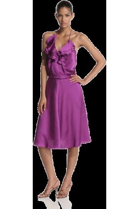 Halston Heritage Dresses -  HALSTON HERITAGE Women's Front Ruffle Waist Dress Orchid