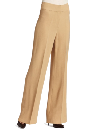 Halston Heritage Pants -  HALSTON HERITAGE Women's High Waisted Pant Camel