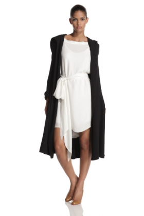 Halston Heritage Jacket - coats -  HALSTON HERITAGE Women's Hooded Coat Black