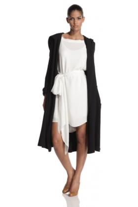 Halston Heritage Jacket - coats -  HALSTON HERITAGE Women's Hooded Coat Black