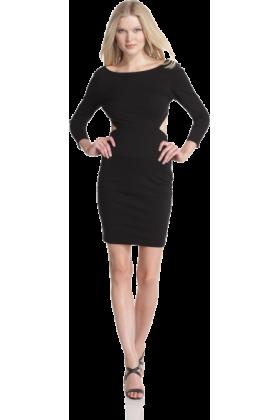 Halston Heritage Dresses -  HALSTON HERITAGE Women's Long Sleeve Sweetheart Dress Black
