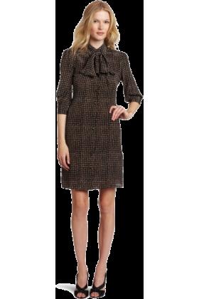 Halston Heritage Dresses -  HALSTON HERITAGE Women's Removable Tie Shirt Dress Black