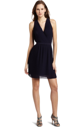 Halston Heritage Dresses -  HALSTON HERITAGE Women's Wrap Bodice Dress Midnight