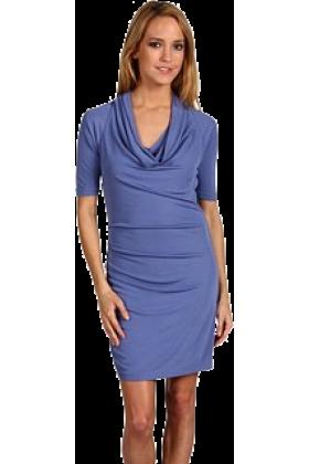 Halston Heritage Dresses -  Halston Heritage Women's Asymmetric Cowl Dress Galaxy