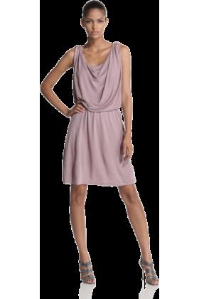 Halston Heritage Dresses -  Halston Heritage Women's Front Cowl Dress Mauve