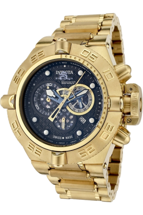 Invicta Relógios -  Invicta Men's 6554 Subaqua Noma IV Collection Chronograph 18k Gold-Plated Watch