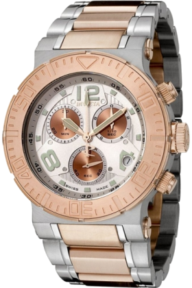 Invicta Relógios -  Invicta Men's 6755 Reserve Collection Chronograph 18k Rose Gold-Plated and Stainless Steel Watch
