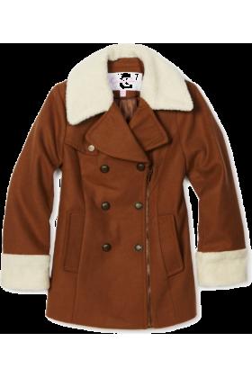Jessica Simpson Jacket - coats -  Jessica Simpson Coats Girls 7-16 Asymmetrical Zipper Chestnut