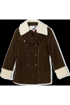 Jessica Simpson Jacket - coats -  Jessica Simpson Coats Girls 7-16 Asymmetrical Zipper Olive
