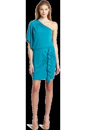 Jessica Simpson Dresses -  Jessica Simpson Women's Single Drape Sleeve Mini Dress Enamel Blue