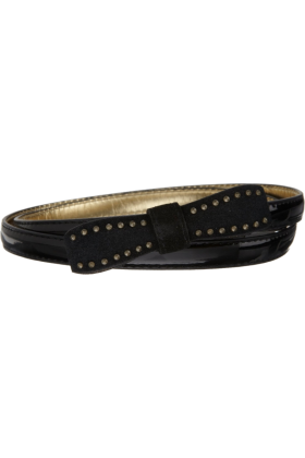 Jessica Simpson Belt -  Jessica Simpson Women's Skinny Bow Belt Black