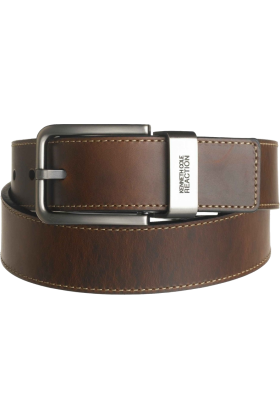"Kenneth Cole Reaction Belt -  Kenneth Cole REACTION Men's Brown Out 1-1/2"" Leather Reversible Belt Brown/Black"