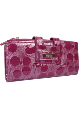 Kenneth Cole Reaction Hand bag -  Kenneth Cole Reaction Womens Tab Closure Wristlet Clutch Wallet Purple Nile