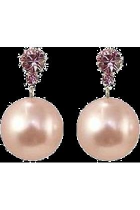 lilika lika Earrings -  Liah - Brincos De Pérola Rosa
