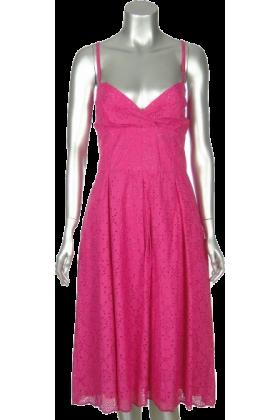 Lilly Pulitzer Haljine -  Lilly Pulitzer Womens Pink 100% Cotton Chandelier Eyelet Dress Misses 12