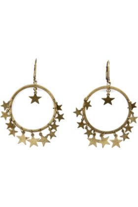 Mango Earrings -  Mango Women's Star Loop Earrings Gold