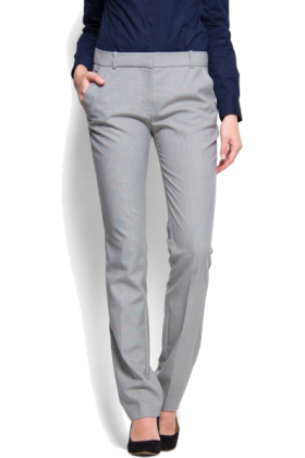 Mango Pants - Mango Women's Straight-leg Gray - $34.99 - trendMe.net