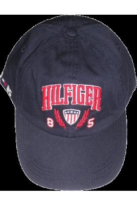 Tommy Hilfiger Cap -  Men's Tommy Hilfiger U.S.A. Hat Ball Cap Blue with Crest