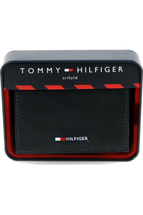 Tommy Hilfiger Wallets -  Men's Tommy Hilfiger Wallet Trifold Black w/ Logo