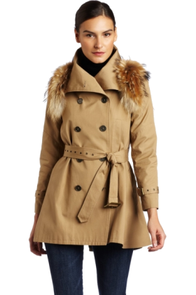 Rebecca Minkoff Jacket - coats -  Rebecca Minkoff - Clothing Women's Jacquelyn Trench Coat with Fur Khaki