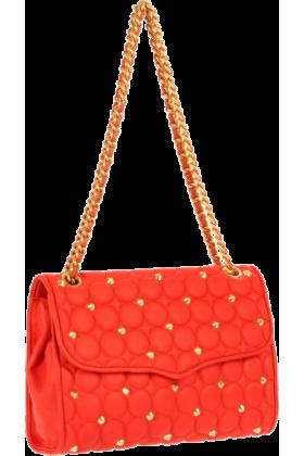 Rebecca Minkoff Bag -  Rebecca Minkoff Circle Quilt Affair  Elegance Shoulder Bag Persimmon