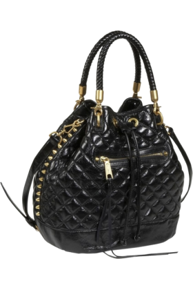 Rebecca Minkoff Bag -  Rebecca Minkoff Edged Quilt Confession Slouch Bag Black
