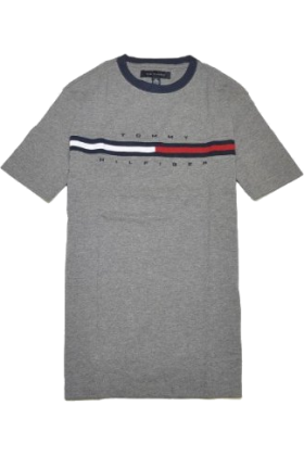 Tommy Hilfiger T-shirts -  Tommy Hilfiger Men Classic Fit Logo T-Shirt Dark Grey