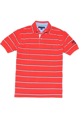 Tommy hilfiger t shirts tommy hilfiger men logo red for Amazon logo polo shirts