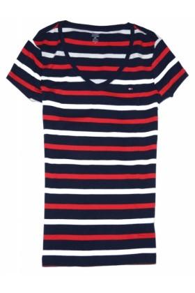 Tommy hilfiger t shirts tommy hilfiger women v neck for Tommy hilfiger fitzgerald striped shirt