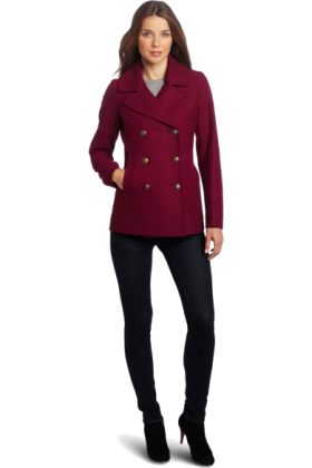 Tommy Hilfiger Jacket - coats -  Tommy Hilfiger Women's Classic Double-Breasted Wool Pea Coat Potion