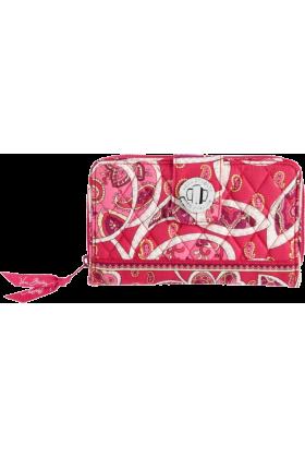 Vera Bradley Wallets -  Vera Bradley Turn Lock Wallet Rosy Posies